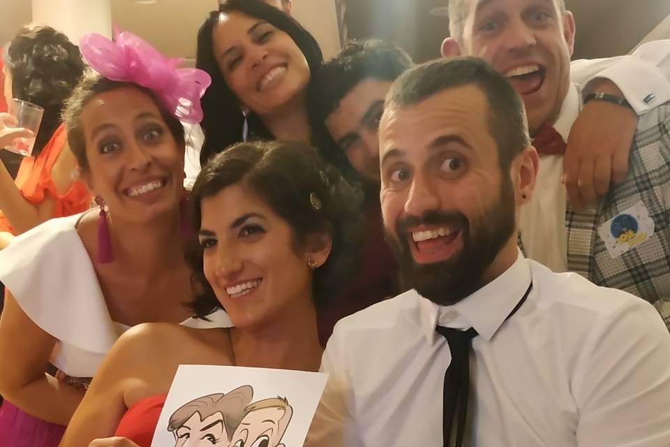 Caricatour en bodas