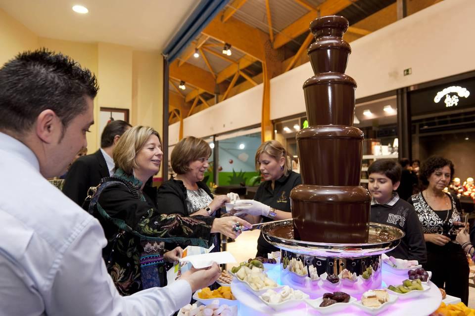 Trébol de chocolate