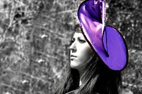 Tocado violeta