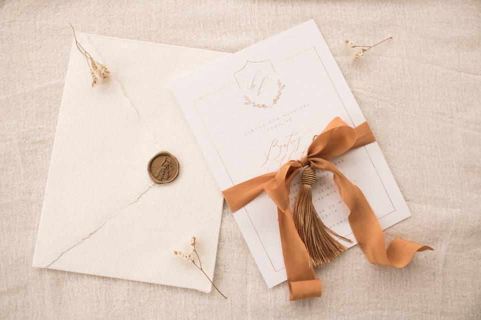 Invitación de boda 'Toulouse'