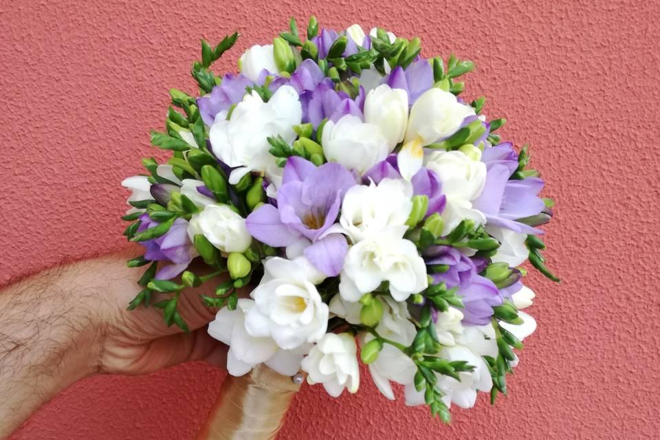 Ramo de novia de fresias