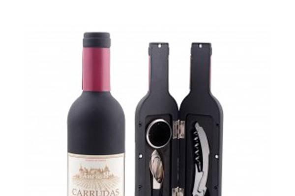 Botella accesorios vino