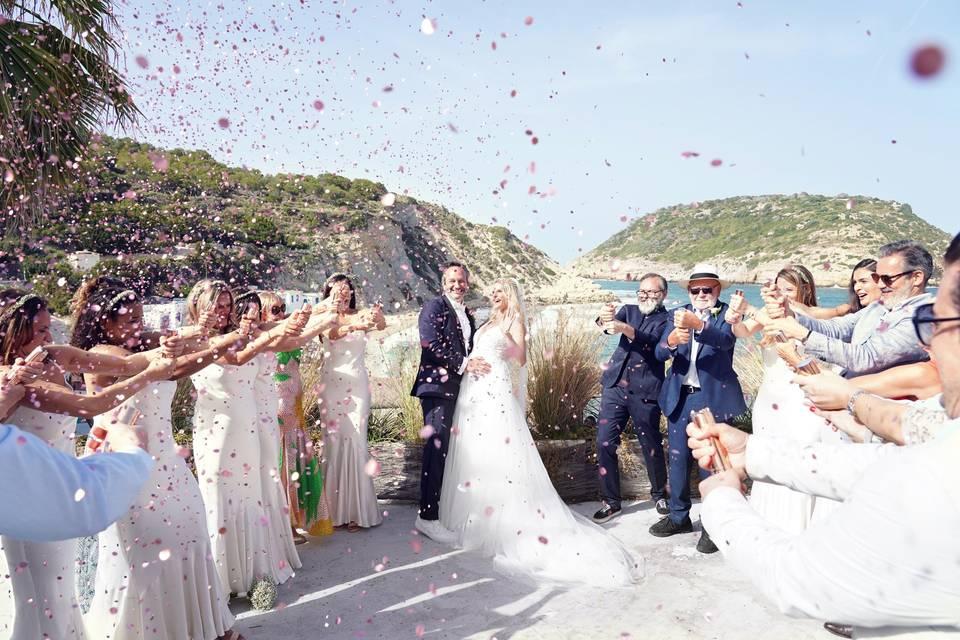 Confeti post-ceremonia