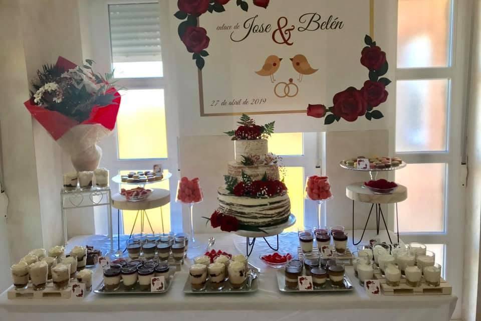 Mesa dulce para boda
