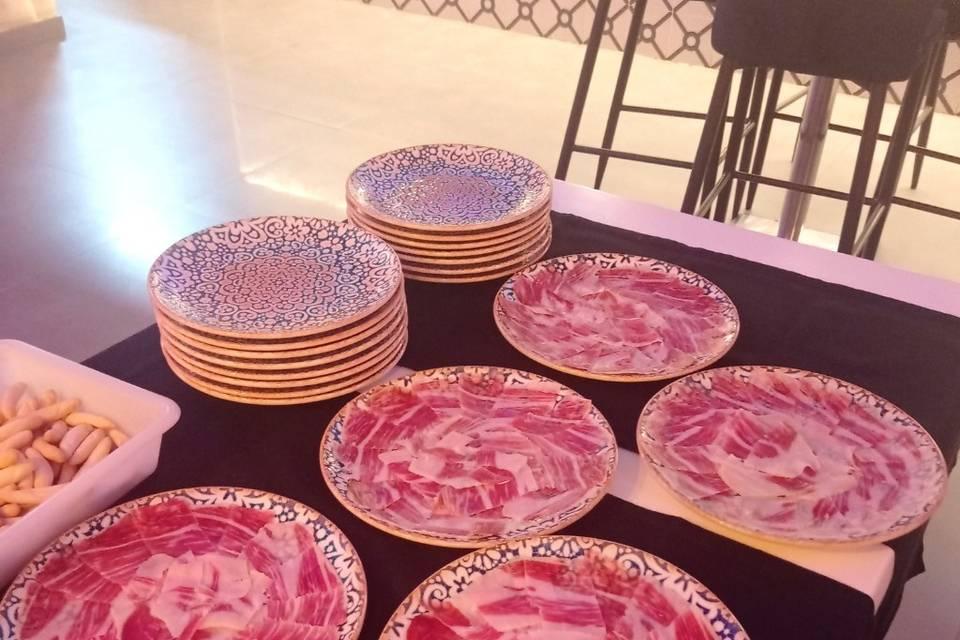Platos de jamón