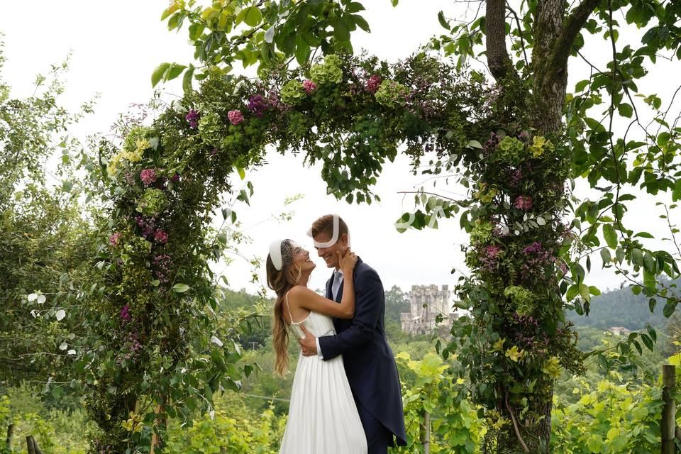 Arco de boda civil