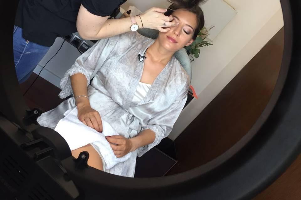 Maquillaje de novia de María
