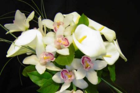Ramo con orquideas en cascada