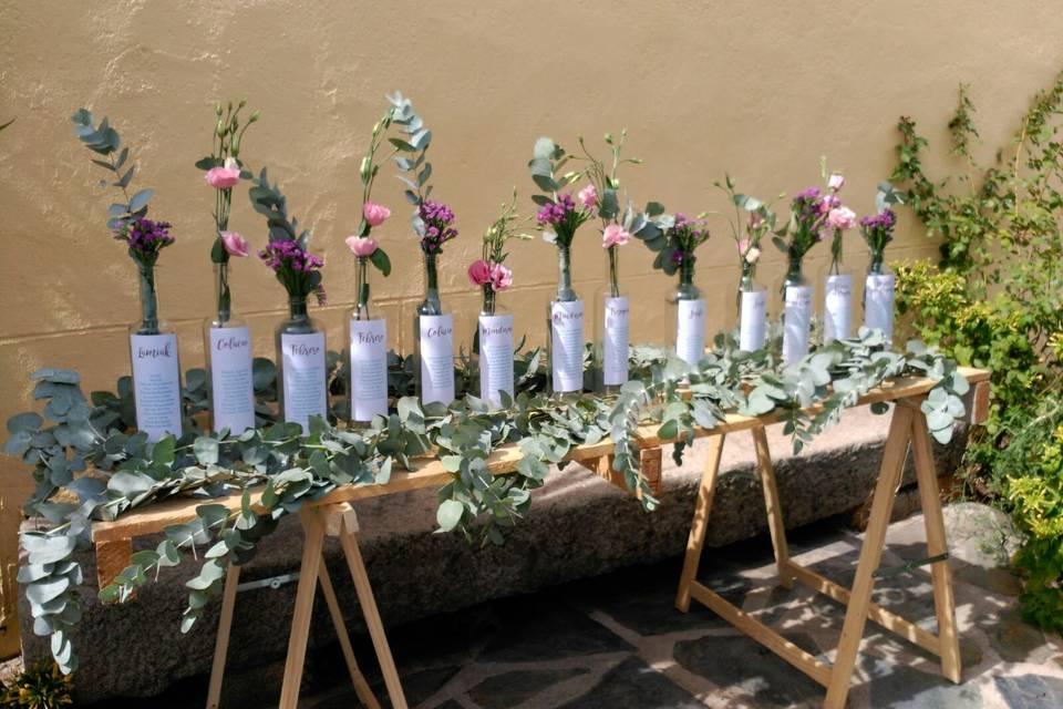 Seating plan floral