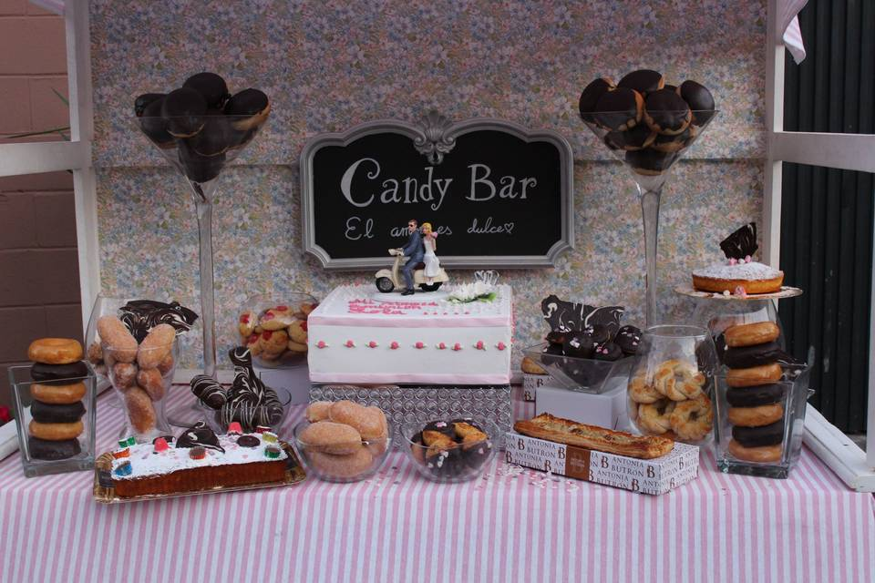 Ejemplo de candy bar dulce