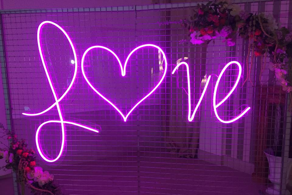 Neon love 2. 50 de ancho