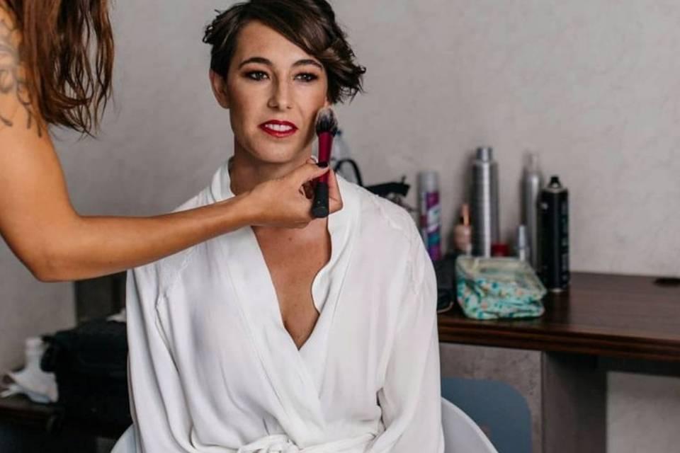 Maquillaje y peluquería de novia