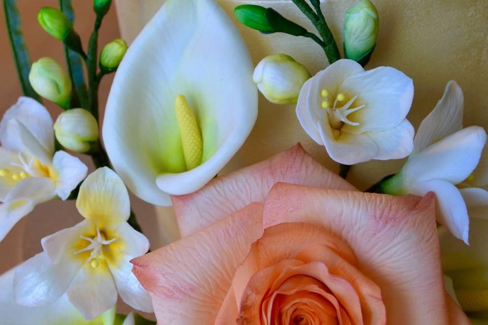 Ramo de flores de azúcar