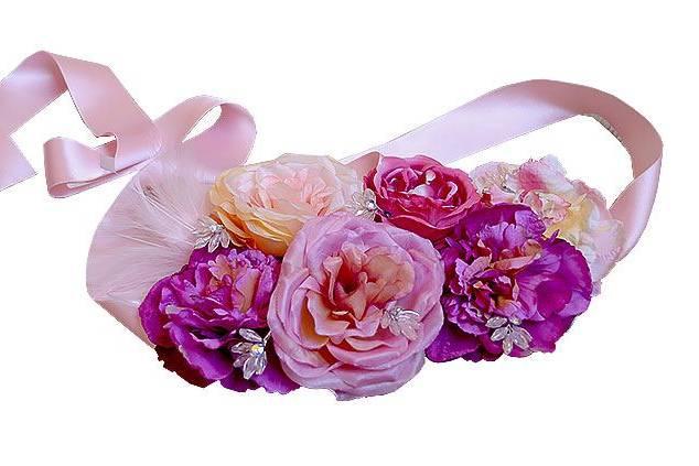 Cinturón de flores para boda