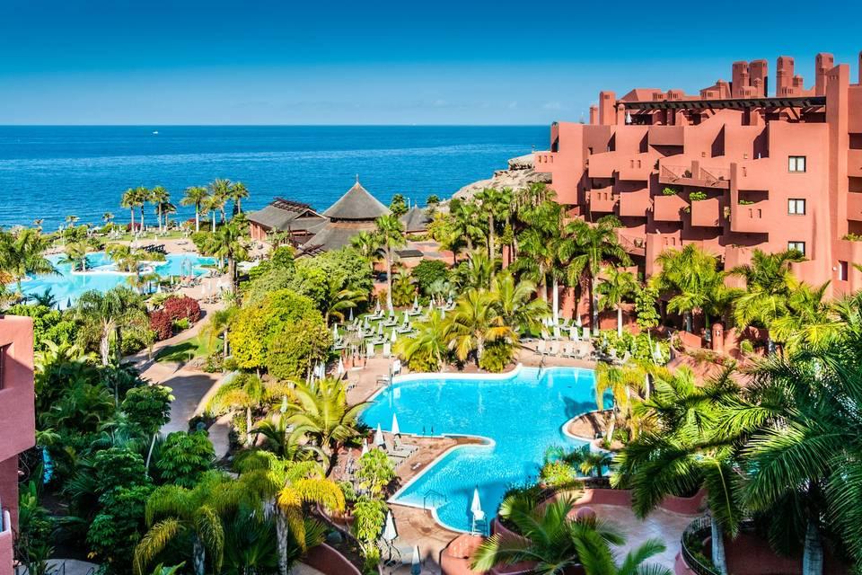 Vista aérea del resort