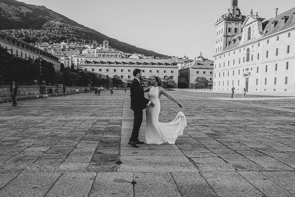 Fotos de pareja en El Escorial