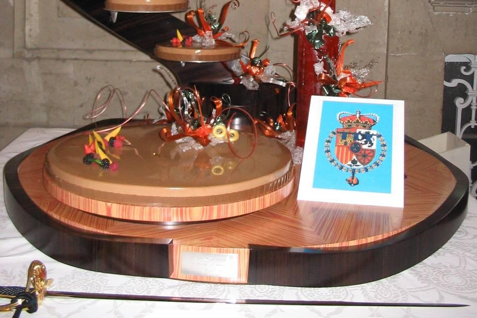 Tarta boda Reyes de España2004