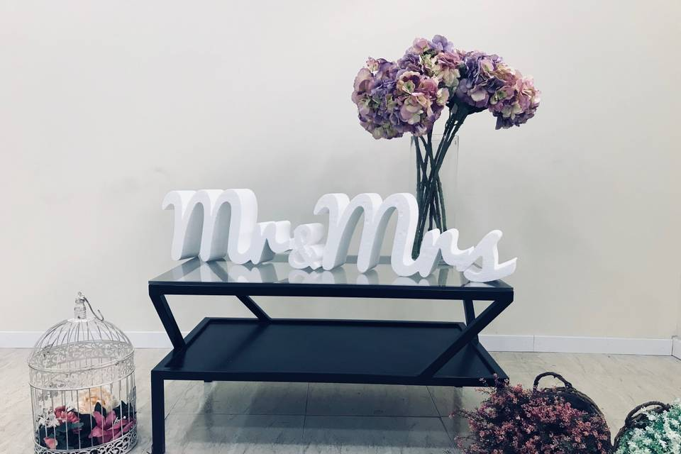 Letras poliespán Mr&Mrs