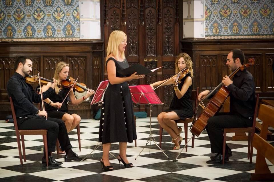 Cuarteto Medicea y soprano